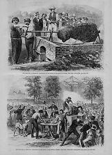 BARBEQUE OX ROASTING AT THE PICNIC OF BRENNAN SOCIETIES NEW YORK BARBEQUE OXEN