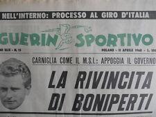 Guerin Sportivo n°15 1960 - La rivincita di Boniperti   [G44]