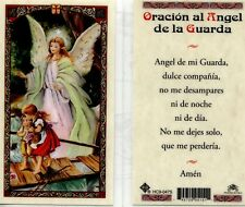My Guardian Angel (Spanish Version) Laminated Prayer Holy Cards HC9-047S