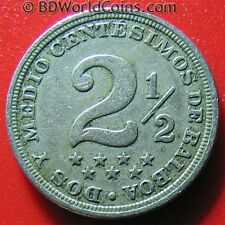 1916 PANAMA 2 1/2 CENTESIMOS CENTS LOW MINT KEY DATE COLLECTABLE COIN Cu-Ni 21mm