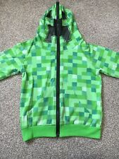 Minecraft Creeper Hoody To Fit Age 7 Approx