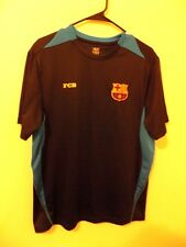 ORIGINAL FC BARCELONA FCB SOCCER JERSEY FOOTBALL FUTBOL BLACK BLUE MENS MEDIUM M