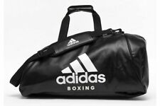 Adidas PU 2 in 1 Boxing Holdall Bag Backpack Gym Black