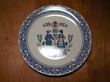 "Johnson Bros England HEARTS & FLOWERS Set of 3 Dinner Plates 9 3/4"" Blue"