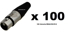 100 REAN RC3F XLR Female Plug 3 Pin Ships FREE to ALL US Zip Codes