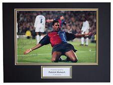 Patrick Kluivert SIGNED autograph 16x12 photo display Barcelona Football COA