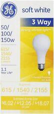 GE SoftWhite Light Bulb 3-Way 50/100/150 Watt 3 ea