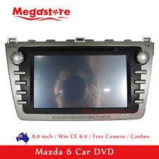 "8"" Mazda 6 2008-2012 Car DVD GPS PLAYER FREE REVERSE CAMERA HEAD UNIT Bluetooth"