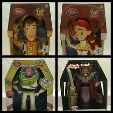 LOT Disney Store Toy Story Woody Jessie Buzz Zurg Talking SET Figures NEW