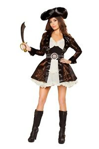 Caribbean Pirate Queen outfit 5pc. Halloween