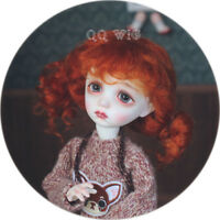 QQ-41B Carrot red Color BJD Doll Mohair Wig {Dolly Planet} 1/8;1/6 ;1/4 ;1/3
