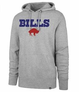Buffalo Bills Men's Throwback Legacy Pregame Headline Hoody Sweatshirt - Gray