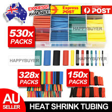 530 pcs Heat Shrink Tubing Tube Assortment Wire Cable Insulation Sleeving Kit AU