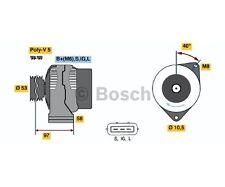 Bosch 0 986 041 170 generador más 50 € fianza de la Toyota avensis t Station Wagon