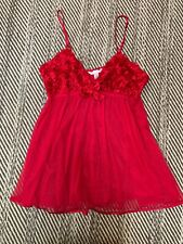 flora nikrooz nightgown Red Floral Spaghetti Strap Babydoll