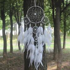 New Dream Catcher Circular White Feathers Home Wall Hanging Decoration Decor