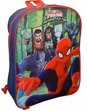 "Marvel Spiderman 15"" School Bag Backpack Red"