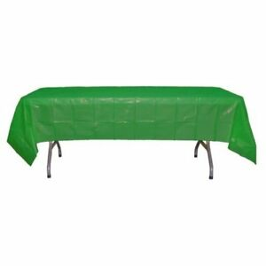 """Disposable Plastic Tablecloths 54"""" x 108"""" Rectangle Pack of 4 (Package May Vary"""