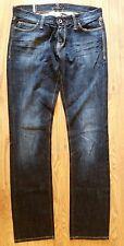 Meltin Pot Mesh Jeans Size 27x34 Dark Wash Cotton Blue Jeans