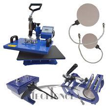 110V 5in1 Multifunctional Sublimation Heat Press Transfer Mug Plate Cap Machine