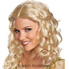 W301 Disney Maleficent Sleeping Beauty Princess Aurora Adult Blonde Costume Wig