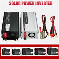 1000/1500W DC 12V to AC 110V Solar Power Inverter Converter USB Battery Charger
