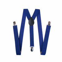 Fashion Unisex Men Women Clip-on Suspenders Elastic Y-Shape Adjustable Braces