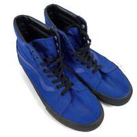VANS Womens Sz 10 Dark Blue High Top Sneaker Skateboard Shoes Waxed Canvas