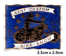 HELLS ANGELS KENT CUSTOM BIKE SHOW 1992 Pin Badge HIGHLY COLLECTABLE RARE KCBS