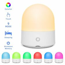 LED Bedside Night Light Lamp Touch Control Dimmable Color Changing Battery Kids