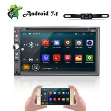 "GPS Navi Android 7.1 7"" 2Din Car Radio Stereo DVD Player OBD BT 4G WiFi HD + cam"