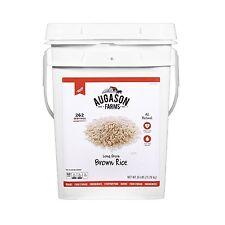 Augason Farms Long Grain Brown Rice Emergency Food, 26 lb - NO TAX