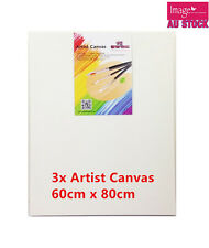 3 x Blank Artist Canvas 60x80cm Heavy Duty 37mm Thickness YW