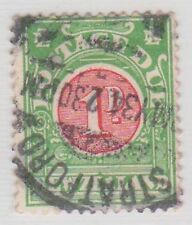 (JQ-11) 1902 NZ 1d red& green postage due
