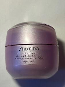 Shiseido White Lucent Overnight Cream And Mask Night 75ml 2.6oz No Box