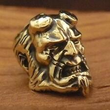 @ Hellboy @ Unique Collectible Paracord Leather Lanyard Bead Hand-Cast Metal/.