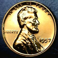 1957 GEM PROOF Lincoln Cent Coin SUPERB FULL RED Penny PRF #3    NO RESERVE