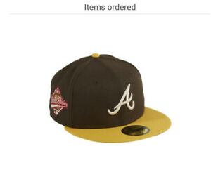 Hatclub Exclusive New Era 59Fifty Atl Brves 1992 World Series Patch Hat 7 1/2