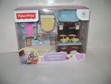 NEW Fisher-Price Loving Family Bathroom TOY Kids DOLLHOUSE Vanity Tub Toilet