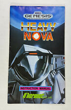 Heavy Nova - MANUAL ONLY (NO GAME INCLUDED) SEGA GENESIS (GENM009)