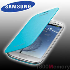 GENUINE Samsung Galaxy S3 Flip Cover Case GT-i9300 i9305 i9306 i9307 Lght Blue