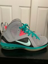 "Nike Lebron (IX) 9 P.S. Elite ""SOUTH BEACH"" ""MIAMI VICE"" Size 10 516958 001"