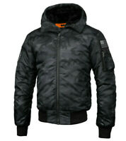 Men Kurtka Jacket Coat Pit Bull West Coast PitBull Winter Encino Black Camo Moro