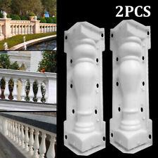 2 Pcs 65cm Moulds Balustrades Mold for Concrete Plaster Cement Plastic