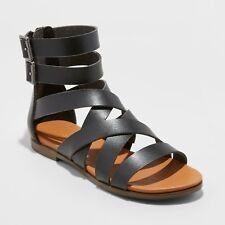 4db9c68fd545 NWT Women s Rosalee Microsuede Gladiator Sandals - Universal Thread Black 6