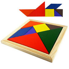 Wooden Tangram Brain Teaser Puzzle Educational Developmental Kids Toy HY#U