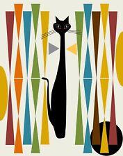MID CENTURY MODERN ABSTRACT CAT