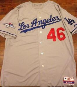 Ken Howell Autographed 2013 Post Season Los Angeles Dodgers Away Game Used Jerse