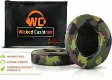 Wicked Cushions Beats Replacement Ear pads Compatible Studio 2.0 Wired Green NEW