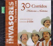 Los Invasores de Nuevo Leon 30 Corridos Historias Nortenas Edicion Especial 2CD